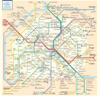 Plan métro, il est pratique pour se repérer
